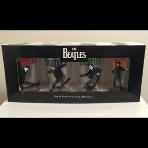 🎶 The Beatles 🎶 Collectible Drinking Glasses (4)